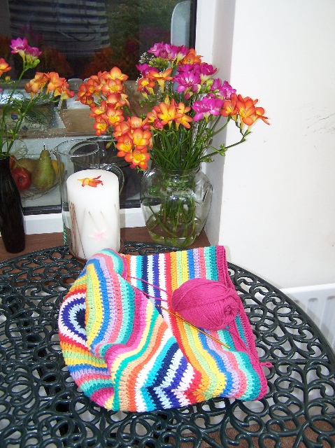 New knitting bag in progress